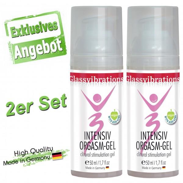 GLASSVIBRATIONS 2er Set INTENSIV Orgasm-Gel Vegan 50ml