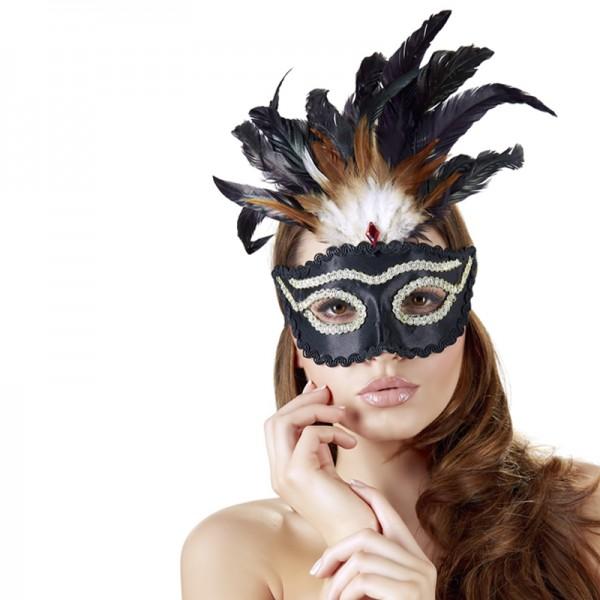 Maske mit Federn Edition 2