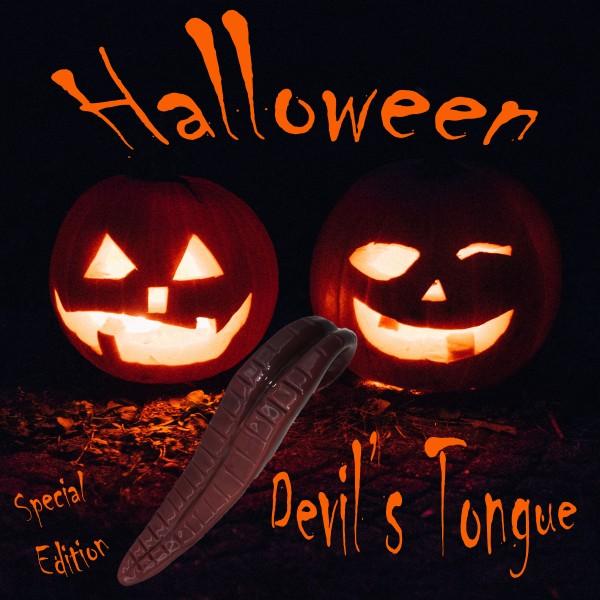 """SPECIAL EDITION! Glasdildo Teufelszunge """"Halloween"""" fleischfarben"""