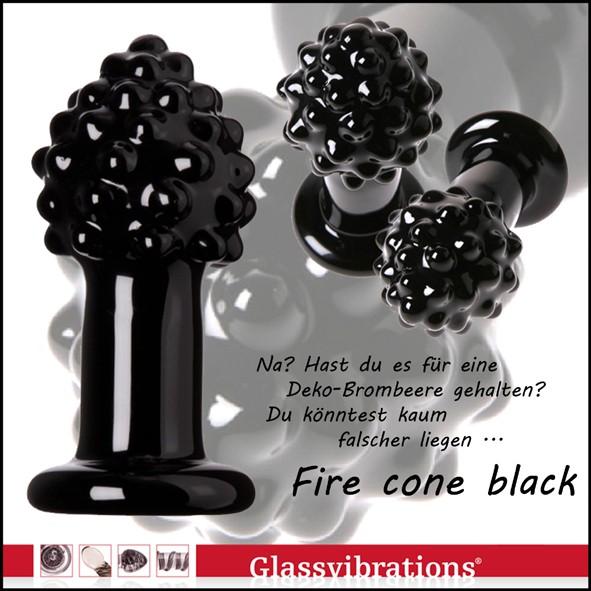 Glas Plug Fire cone black